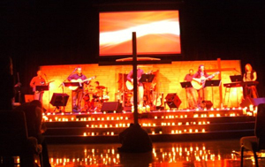 Special lighting effects at Fellowship Bible Church in Topeka